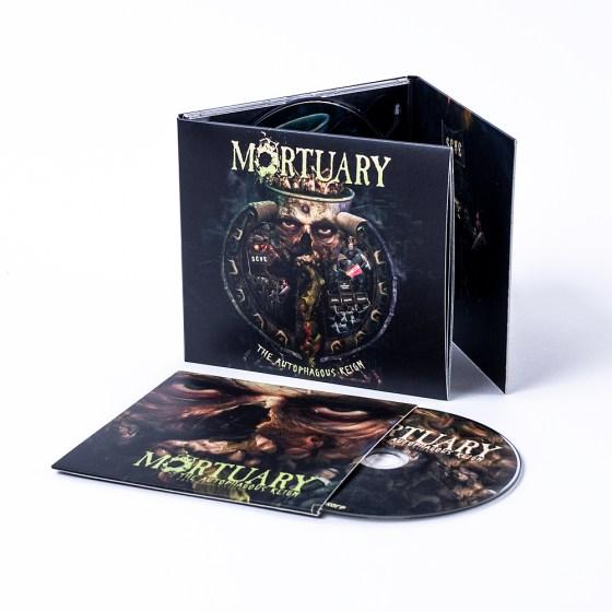 """MORTUARY """"The Autophagous Reign"""" DigiPak CD + """"The Autophagous Reign Preproductions"""" bonus CD (""""Mailorder Collector Edition"""")"""