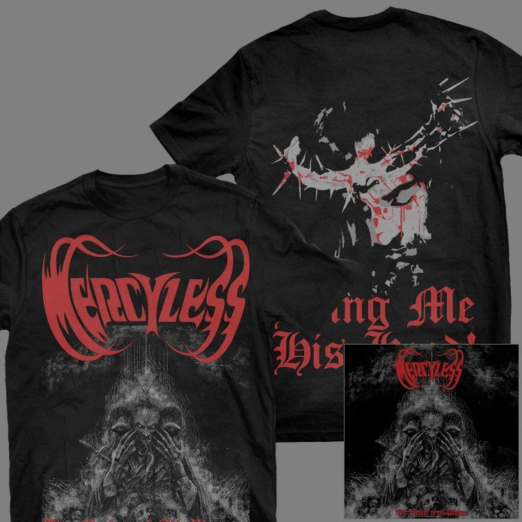 """MERCYLESS """"The Mother of All Plagues"""" T-SHIRT + Album"""