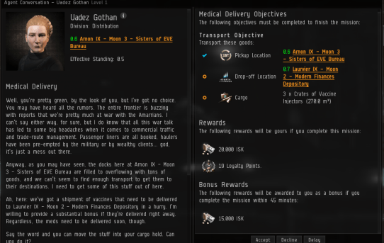 Eve Online Missions Rewards
