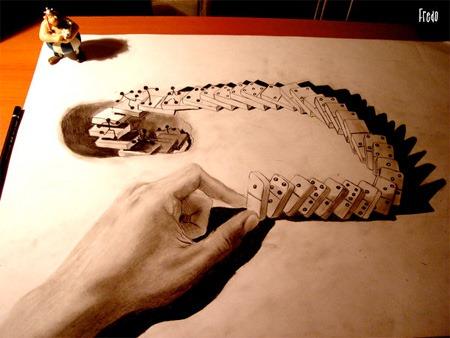 Arte Impresionantes Dibujos A Lápiz Con Efecto 3d Sri Sistema