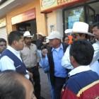 Se manifiestan mixtecos unidos a llegada de Ernesto Cordero en Huajuapan