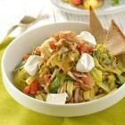 Receta del dia; Fettuccini con espinacas y jitomate