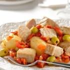 Receta del día_Atún guisado con pimientos y papas
