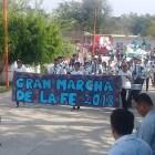 Realizan La marcha de la Fe en Petlalcingo