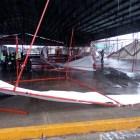 Lluvia deja afectaciones en stands instalados por la Expo Feria