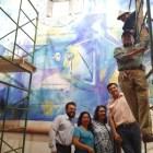 Prevén en los próximos días concluir restauración de mural en el MUREH