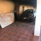 Continúa FGE investigación del incendio de patrulla en Huajolotitlán