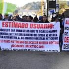 Protestan presidentes mixtecos en Oaxaca para exigir atención a sus demandas