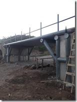 Reconstrucción de puente en San Lorenzo Victoria presenta un 90% de avance