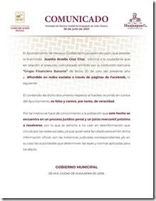 27jul21_Comunicado Ayuntamiento