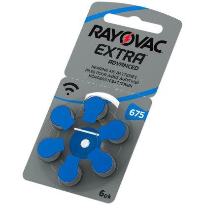Bild på Rayovac hörapparatsbatteri 675 blå