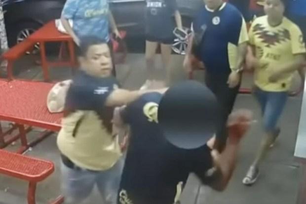 Así fue la golpiza de aficionados del América que provocó homicidio (VIDEO)
