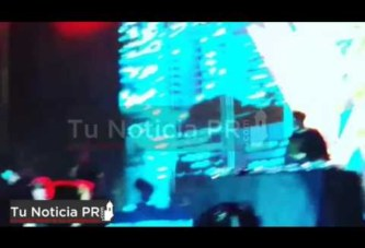 """VÍDEO: Wisin sufre """"tremenda caída"""" durante un concierto privado en Miami"""