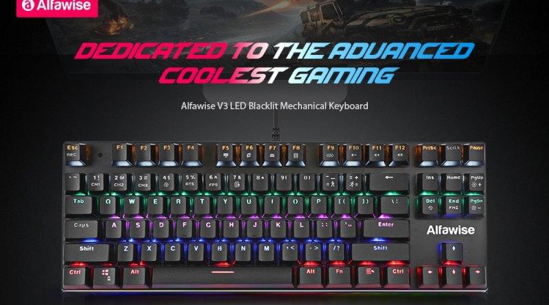 Παρουσίαση Alfawise V3 LED Backlit Gaming Mechanical Keyboard