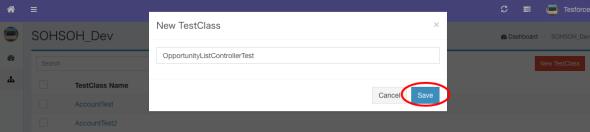 2. New TestClass