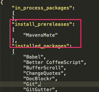 MavensMate install_prereleases