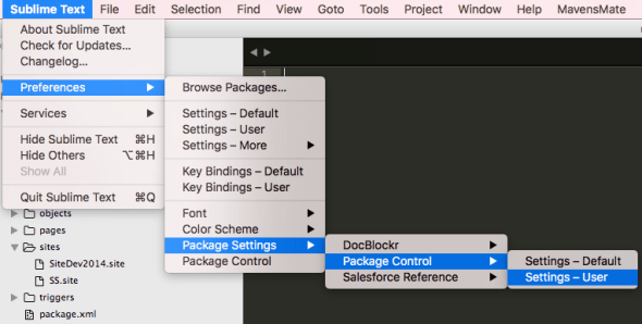 Package Controll Setting