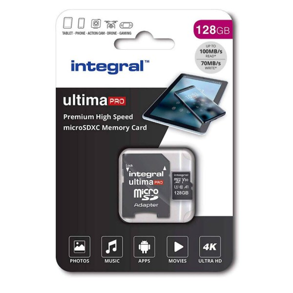 Integral 128GB Micro SD Card Premium 4K