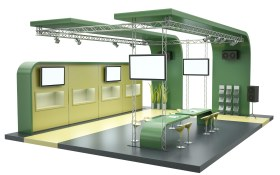 trade show booth video display