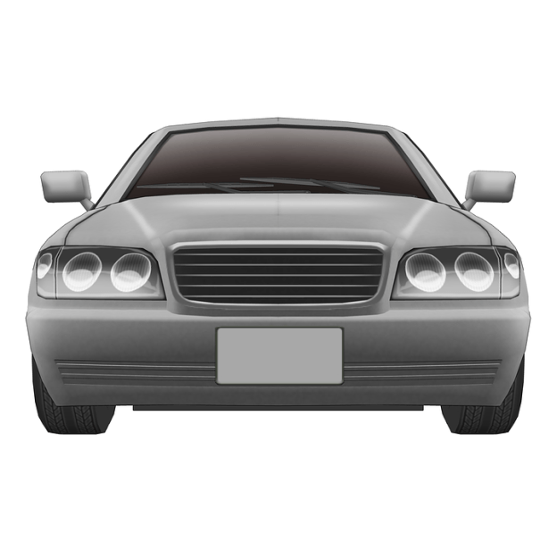 front view of a car