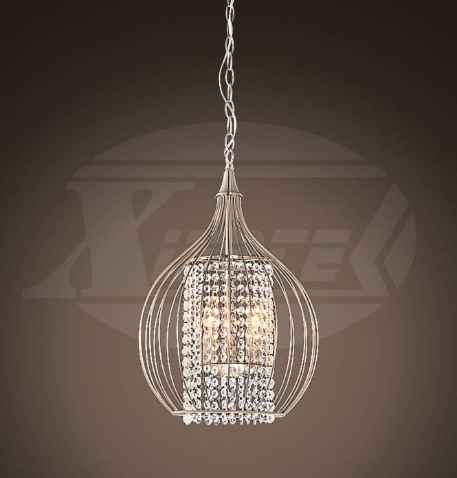 Helina Chrome And Crystal 4 Light Round Ceiling Flush Mount Chandelier 16 Hx17 W