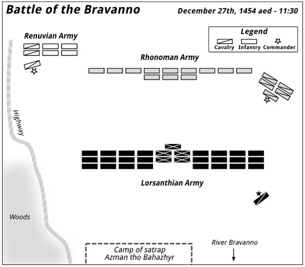 Battle of the Bravanno — 11:30 - 1455-12-27 aed