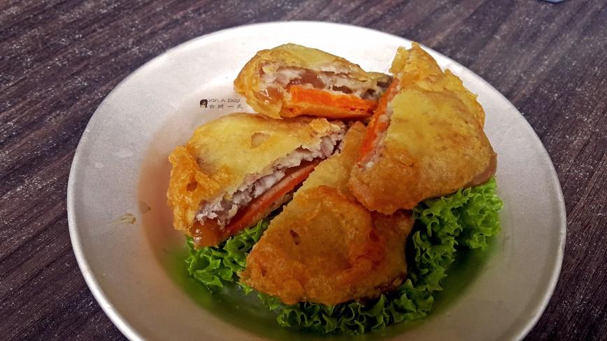 芋头甜薯年糕夹 Crispy Nian Gao with Yam & Sweet Potato