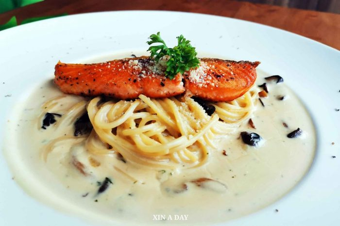 Deep Fried Salmon Pasta