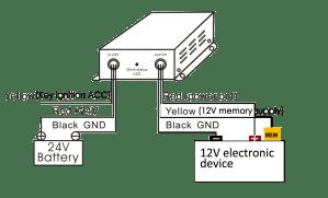 XINCOL DC 24V to DC12V 30A Voltage Reducer DCDC Converter