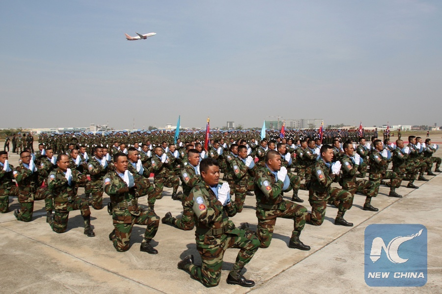 Image result for Cambodian Blue Helmet Peacekeepers