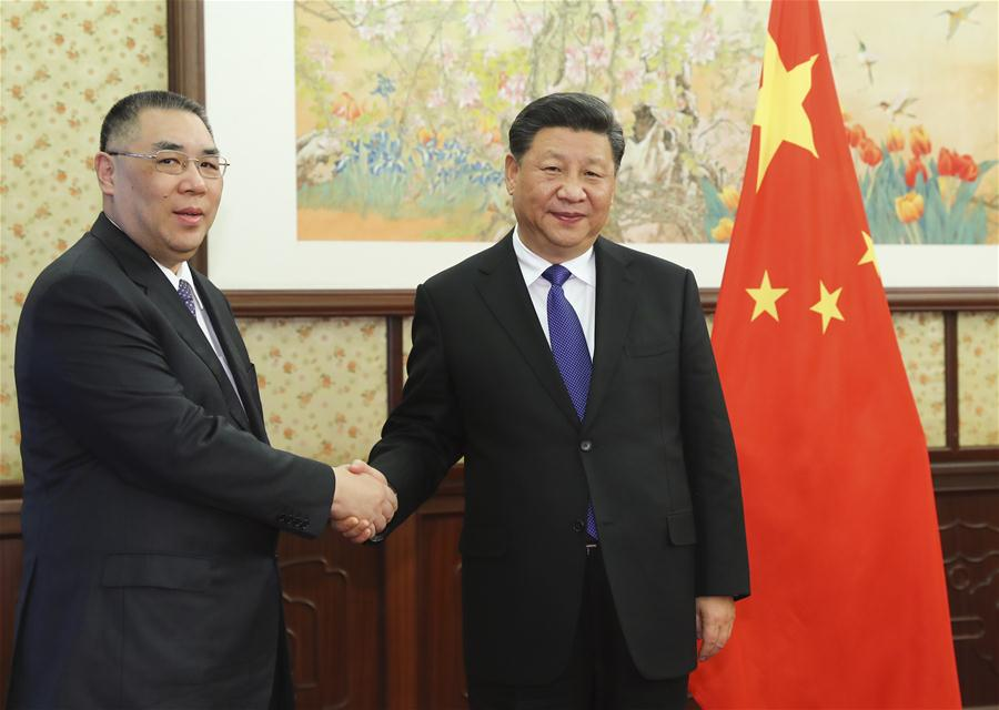 CHINA-BEIJING-XI JINPING-MACAO SAR CHIEF EXECUTIVE-MEETING (CN)
