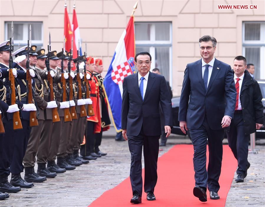 CROATIA-ZAGREB-CHINA-LI KEQIANG-PM-TALKS