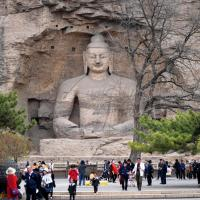 In pics: protection and restoration team of Yungang Grottoes Research Institute in Shanxi; Huaxia; Xinhua