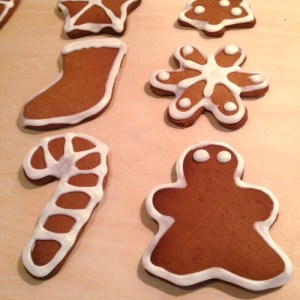 Gingerbread Cookies with Limoncello Icing