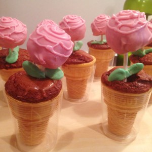 Pink Champagne Rose Cake Pops