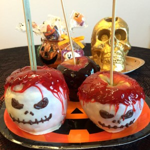 Spooky Skull and Bewitching Black Candy Apples