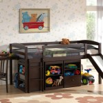 Mulberry Boys Girls Cabin Loft Beds With Slide Desk Storage