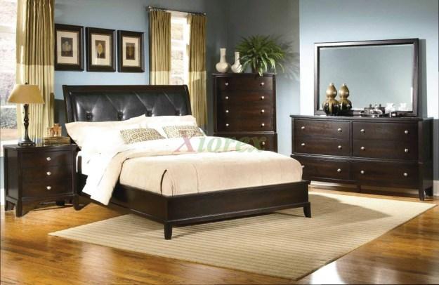 bedroom furniture set with leather headboard 129 | xiorex