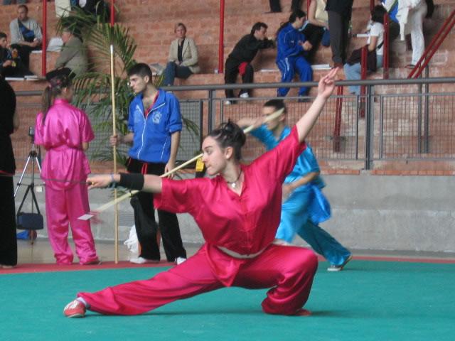 Claudia Palmiotta in 仆步砍剑 - tagliare in orizzontale con la spada in Pubu