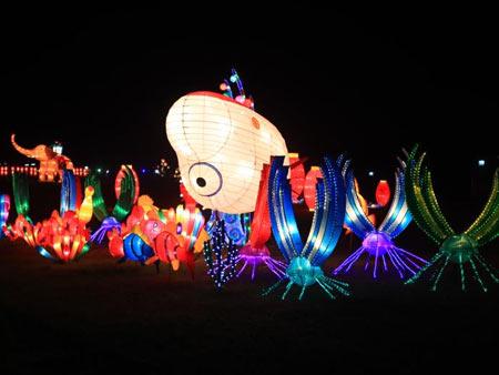 魔術氣球燈籠造型【成都喜悅氣球】