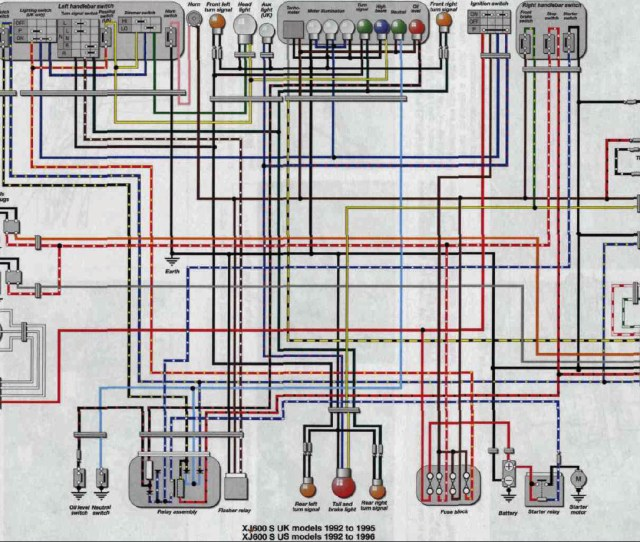 1992 1996 Xj600 Seca Ii Wiring Diagram Schematic