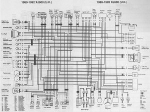 Wiring Diagram (Schematic) for XJ600 – 1989 needed
