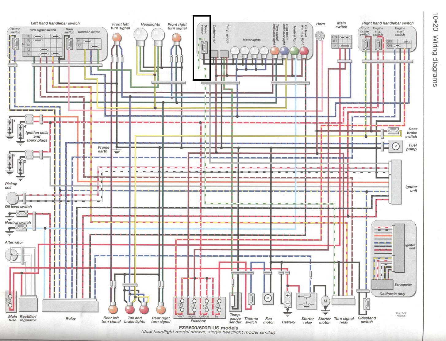 yzf 600 wiring diagram trusted schematics wiring diagrams u2022 rh bestbooksrichtreasures com