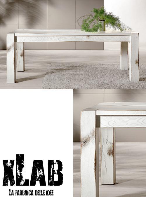 Tavolo in legno massello david in stile shabby chic. Tavolo Da Pranzo In Legno Stile Shabby Chic Kenny Xlab