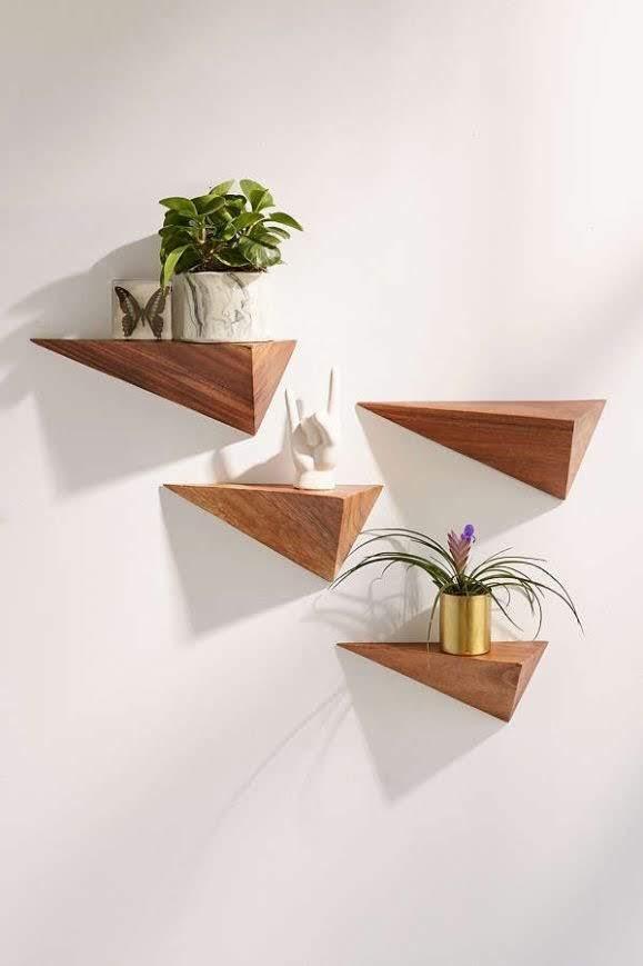 Set 3 mensole da parete moderne design bordi mensola legno scaffale bianco nero. Mensola Da Parete Design Moderno In Legno Da Cucina Xlab Design