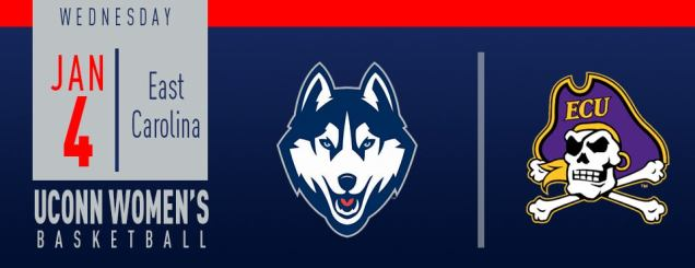 Image result for UConn Women's Basketball vs. East Carolina January 4
