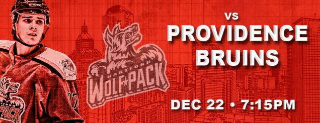 Image result for Hartford Wolf Pack vs. Providence Bruins Dec 22