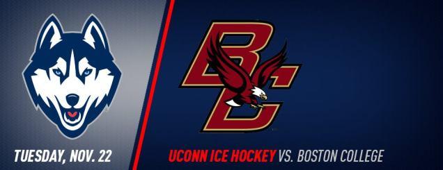 Image result for UConn Hockey vs. Boston College nov 22