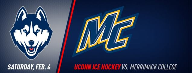 Image result for UConn Hockey vs. Merrimack Feb 4