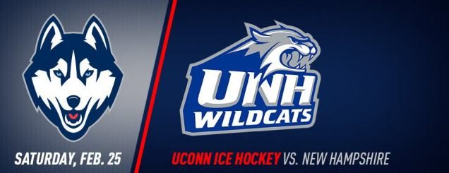 Image result for UConn Hockey vs. New Hampshire feb 25